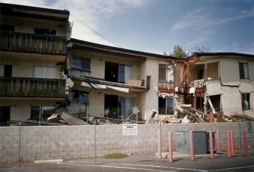 Northridge Meadows collapsed after the 1994 Northridge Earthquake, killing 16 people.